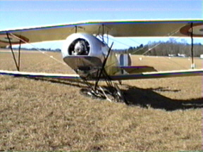 Ray's mishap 12/28/02 -- only damage is to landing gear -- prop had been taken off before photo was taken.