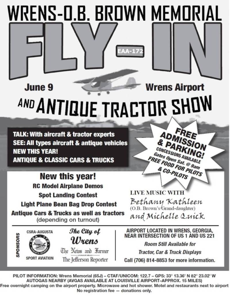 Past Calendar of Events for EAA 172 and other aviation groups