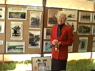 Betty Holmes in History Tent at Skyfest