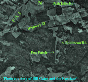 The Pea Patch Aerodrome from space