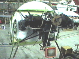 Ralph's engine mounted on his Nieuport