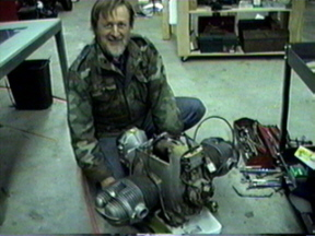 Ray working on his BMW engine