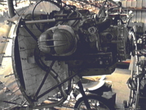 Ray's BMW engine mounted on his Nieuport