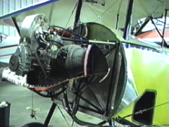 Ray's engine, running without a prop!
