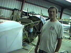 Ray finishing the Ceconite work on fuselage