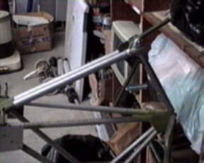 Ray's tailwheel assembly with cover removed